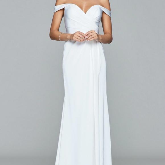 e5442186181d Faviana Dresses | 8083 Offshoulder Drape Long Gown | Poshmark